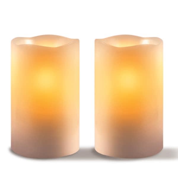 Sarah Peyton 2-piece LED Candle Set with Daily Timer