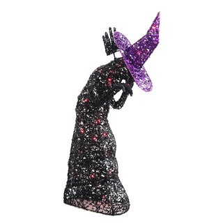 34-inch Lighted Wire Black Witch