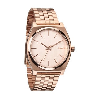Nixon Time Teller Men's Rose Goldtone Steel Watch