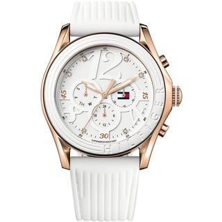 Tommy Hilfiger Sport Women's White Silicone Strap Watch