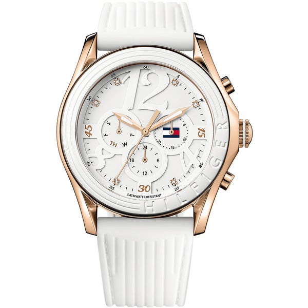 Tommy Hilfiger Sport Women's White Silicone Strap Watch