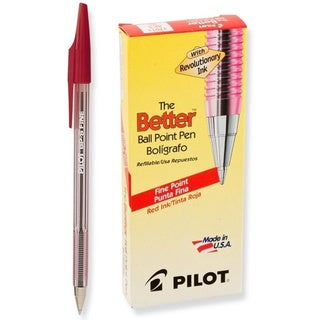 Better Ballpoint Stick Red Ink Pen