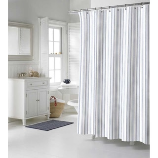 Nautica Palmetto Bay Stripe Cotton Shower Curtain
