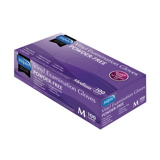 Inspire Medium Powder-Free Exam-Grade Stretch-Vinyl Gloves (Case of 1000)