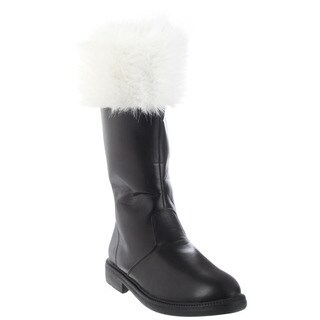 Funtasma Men's 'Santa-100' Black Mid-calf Fur Collar Boots