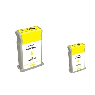 BasAcc 2-ink Yellow Cartridge Set Compatible with Canon BCI-1302Y