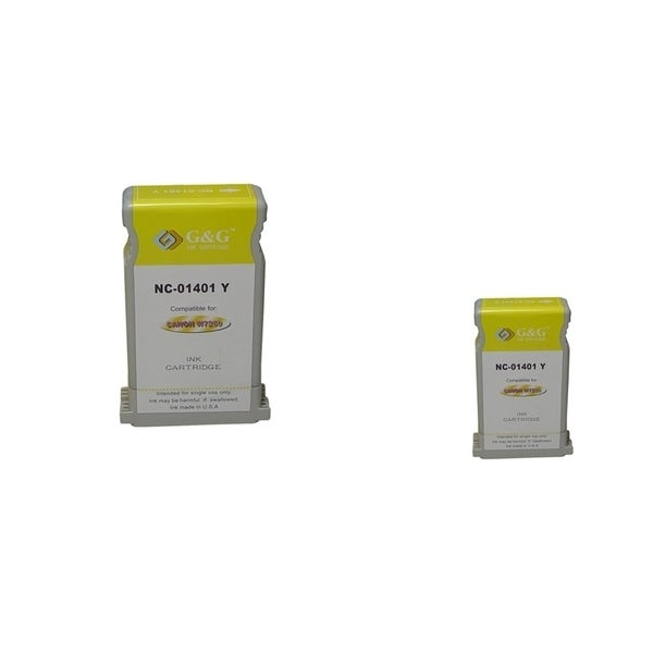 INSTEN 2-ink Yellow Cartridge Set for Canon BCI-1401Y