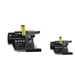BasAcc 2-ink Black Cartridge Set Compatible with Brother LC75 BK