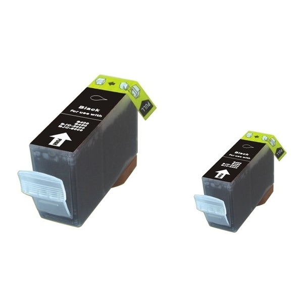 INSTEN 2-ink Black Cartridge Set for Canon BCI-3eBK
