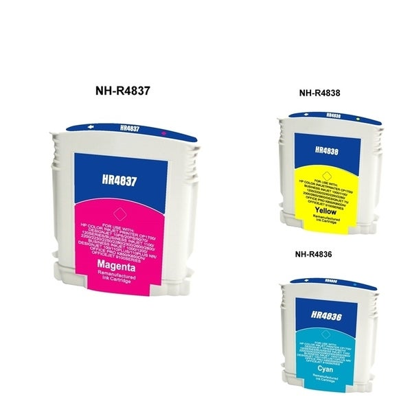 INSTEN HP C4836A No. 11 3-ink Cartridge Set (Remanufactured)