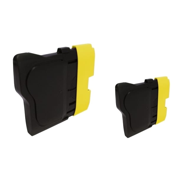 INSTEN 2-ink Yellow Cartridge Set for Brother LC61 Y