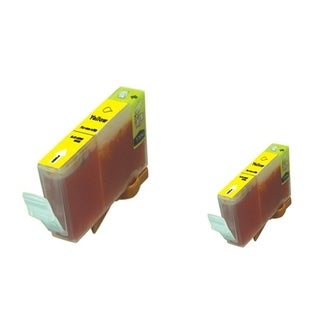 BasAcc 2-ink Yellow Cartridge Set Compatible with Canon BCI-5/6Y