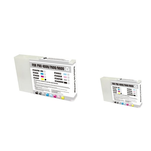 INSTEN Epson T543400 2-ink Yellow Cartridge Set (Remanufactured)