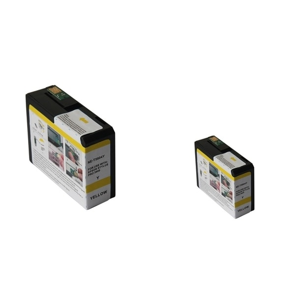 INSTEN Epson T5804Y 80ml 2-ink Yellow Cartridge Set (Remanufactured)