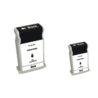 BasAcc 2-ink Black Cartridge Set Compatible with Canon BCI-1302BK