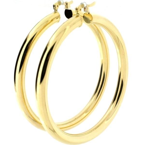 5mm Wide Gold-filled Hoop Earrings (Brazil)