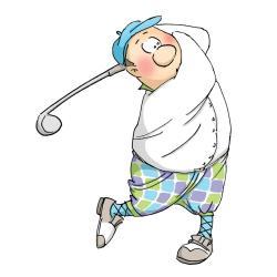 Art Impressions People Cling Rubber Stamp - Gordon Golfer