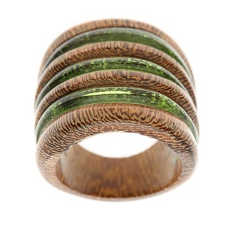 Green Wood Ring