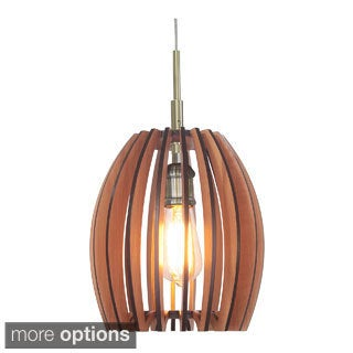 Canopy 1-light Crescendo Wood Slat Pendant