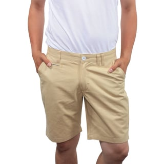 Filthy Etiquette Men's Slim Fit Khaki Flat Front Shorts
