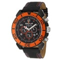 Sector Men's 'Mountain' Black/Orange Stainless Steel Chronograph Watch