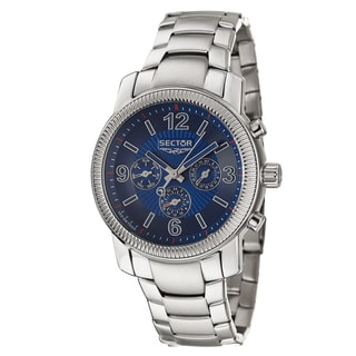 Sector Men's 'Action' Stainless Steel Two Time Zone Watch