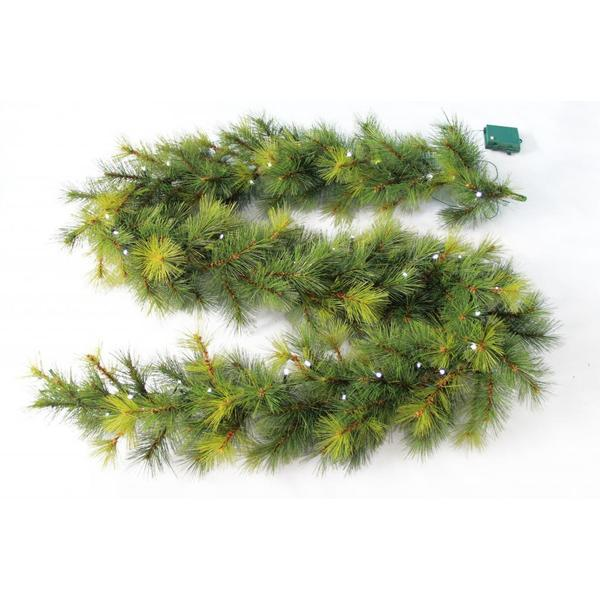 Needle Pine Garland 50 Soft White LED Lights