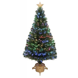 48-inch Multi-color LED Fiber Optic Tree