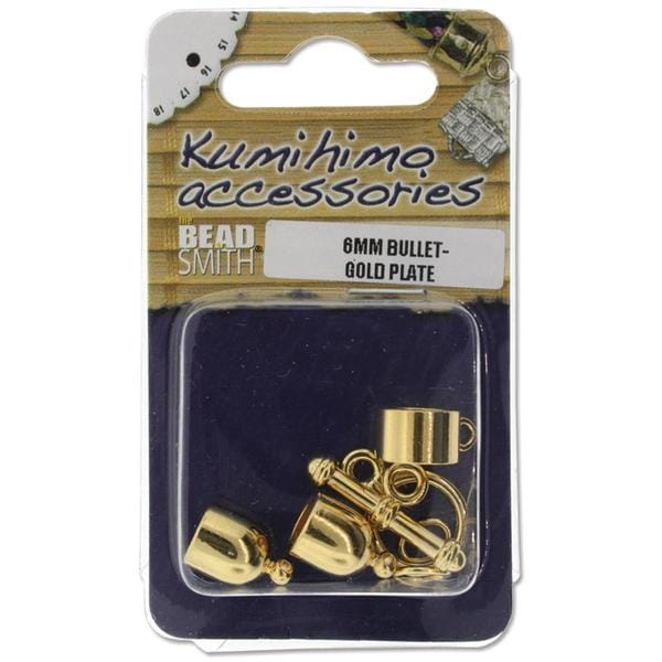 Kumihimo Bullet Finding Set 6mm - Gold Plated