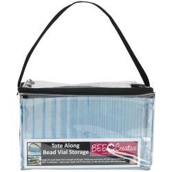 Bee Creative Tote Along Bead Vial Storage Bag 10 X5.75 X6 - Holds 72 Bead Vials