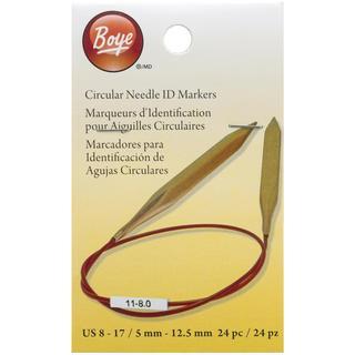 Circular Needle Markers Large 24/Pkg - Sizes 8-17