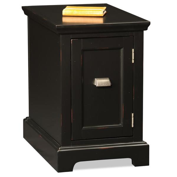 Black Hardwood Printer Stand