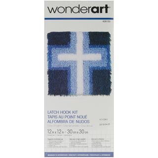 Wonderart Latch Hook Kit 12 X12 - Cross Of Light