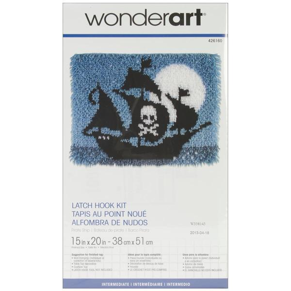 Wonderart Latch Hook Kit 15 X20 - Pirate Ship