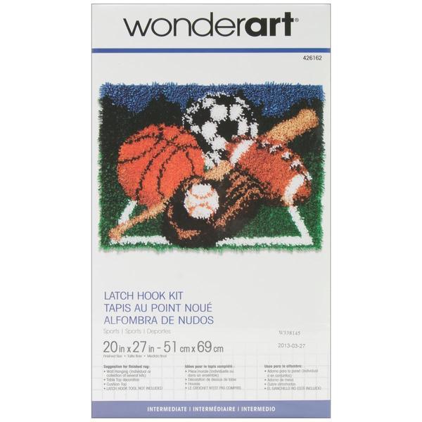Wonderart Latch Hook Kit 20 X27 - Sports
