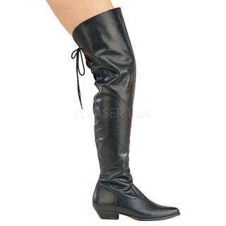 Pleaser Women's 'Rodeo-8822' Black Leather Over-the-Knee Boots