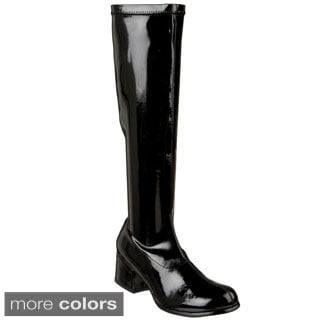 Funtasma Women's 'Retro-300' Patent Block Heel Gogo Boots