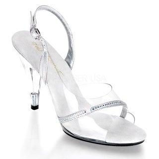 Pleaser Women's 'Caress-456' Clear Stiletto Slingback Sandals