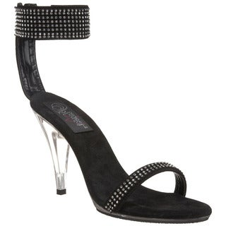 Pleaser Women's 'Caress-440' Black Ankle Band Stiletto Sandals