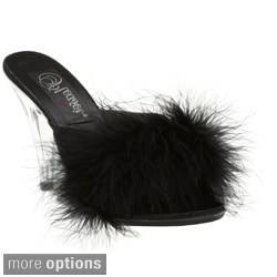Pleaser Women's 'Caress-401F' Furry Stiletto Heels