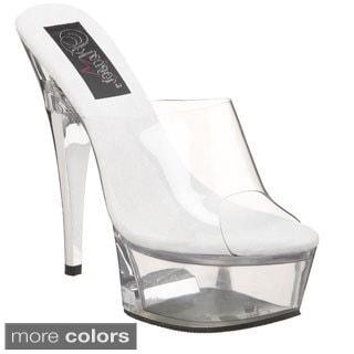Pleaser Women's 'Captiva-601' Lucite Heel Slide Platform Sandals