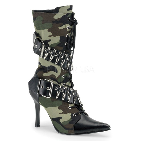 Funtasma Women's 'Militant-128' Black Lace-up Bullet Military Boots