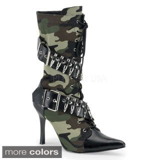 Funtasma Women's 'Militant-128' Black Lace-up Bullet Military Boots