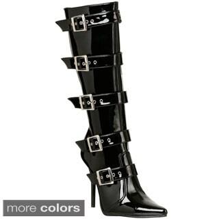 Pleaser Women's 'Milan-2015' Buckled Knee-high Boots