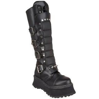 Demonia Men's 'Ravage-11' Black Knee-high Warrior Boots
