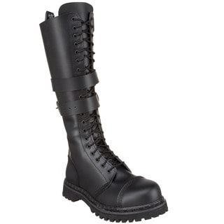 Demonia Men's 'Predator-1' Black Knee-high Lace-up Boots