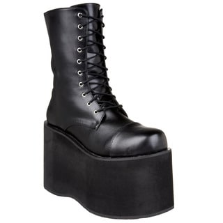 Funtasma Men's 'Monster-10' Black Platform Ankle Boots