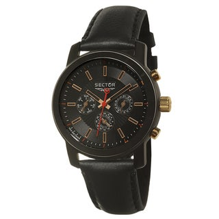 Sector Men's 'Action' Ceramic and Rose Gold PVD Two Time Zone Watch
