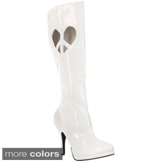 Funtasma Women's 'Love-270' Cut-out Heart Knee-high Boots