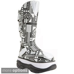 Demonia Men's 'Neptune-3090UV' Reactive Circuit Board Knee-high Boots